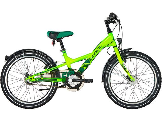 s'cool XXlite 20 3-S - Vélo enfant - steel vert